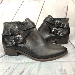 NEW• FRYE cowboy west Ankle bootie shootie Leather